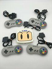 Super Famicom Super Multitap 2 Bomberman + 4 controllers Snes Hudson Japan #80