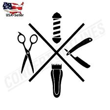 Barber Shop Wall Car Phone Decal Sticker