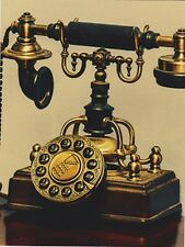 """*Postcard-""""The Brass Antique Telephone"""" /Picture on Postcard/ (B208)"""