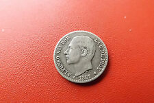 *Spanien 50 Cent 1881 Silber * Alfonso XII (BOX1)