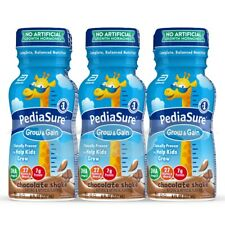 PediaSure Grow & Gain chocolate Kids Nutritional Shake, 8 fl oz,24pk