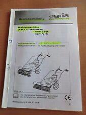 Agria Kehrmaschine Schneepflug 7100 Cleanstar compact  comfort Betriebsanleitung