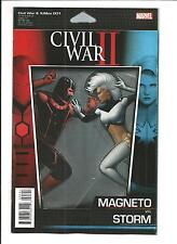 CIVIL WAR II: X-MEN # 1 (MAGNETO vs STORM, ACTION FIG VARIANT, AUG 2016) NM NEW