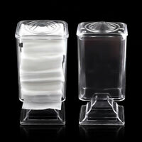 Nail Art Wipes Plastic Polish Tip Remover Pad Paper Holder Case Container~