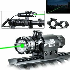 Tactical Green Dot Laser Sight Rifle Gun Scope Rail + Remote Switch Beam Hunting