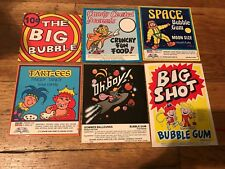 lot of 6  vintage Bubble Gum Vending Machine Display Cards