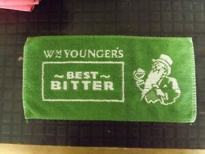 Vintage W M Younger's Best Bitter Bar Towel Pub Beer Mat