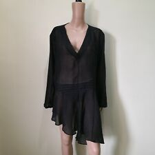 C803 - Original Roger Clothing London Sheer Asymmetrical Cover-up