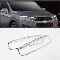 Chrome Headlight Lamp Molding Trim Cover for 06-11 Holden Captiva