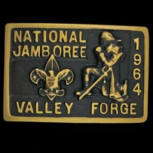 Max Silber 1964 Jamboree Valley Forge BSA Boy Scouts Rare Vtg NOS Belt Buckle