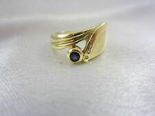 Aparter Ring aus Gold 585 mit Saphir & Diamanten
