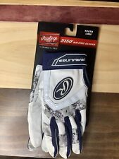 Rawlings Youth Large 5150 Baseball Batting Gloves - Digital Camo Blue (NEW)