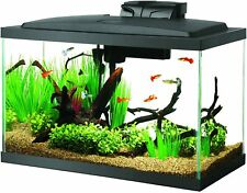 Aquarium Fish Tank with White Led Lighting Full Hood For Most Tropical Fish