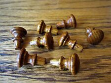8 Tiger Oak Library Card Catalog Drawer Knobs Small Parts File Cabinet Pulls NEW
