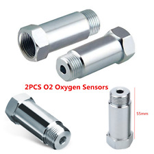 2X Car O2 Oxygen Sensors Extension Spacer Adapter Fix 55mm - M18 x 1.5 Universal