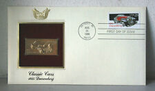 First Day of Issue Classic Cars 1935 Dueseberg 22kt Gold Replica Stamp #26