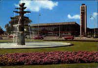 VENLO Holland Niederlande Postkarte Autos VW Käfer vor Rotonde Station Bahnhof