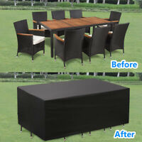 Garden Furniture Cover Patio Outdoor Table Chair Set UV Cover Dust Waterproof E