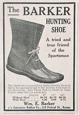 1913 AD.(XG24)~ENTERPRISE RUBBER CO. BOSTON. BARKER HUNTING SHOE