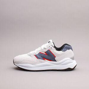 New Balance Lifestyle 57/40 White Navy Running Shoes New Men gym Rare M5740MA1