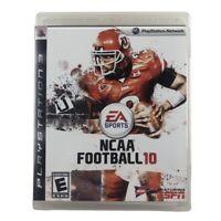 NCAA Football 10 (Sony PlayStation 3, 2009) Complete w/Manual CIB
