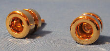 2 NEW GOLD LOCKING GUITAR STRAP BUTTONS FITS JIM DUNLOP STYLE STRAP LOCKS