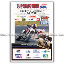 PUB SUPERMOTARD au CIRCUIT DE MERIGNAC - Ad / Publicité COURSE MOTO 1994