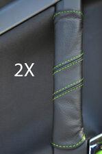 FITS VECTRA C 2X DOOR HANDLE COVERS green stitch