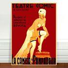 "Vintage French Theater Poster Art ~ CANVAS PRINT 8x12"" La Camisa Pompadour"