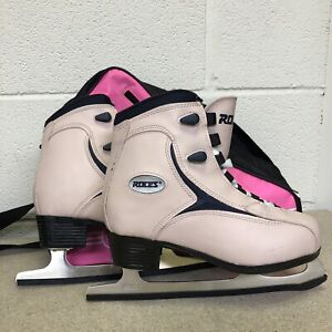 ROCES Ice Skates Pink Size UK 4 (EU 38) +Outer Bag & Blade Covers