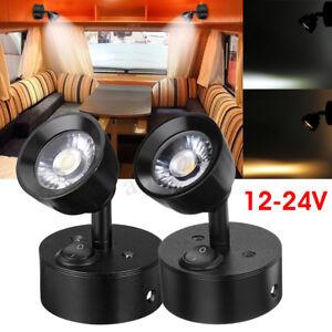 12-24V 1W LED Spot Reading Light Lamp Adjustable For Caravan Boat RV Truck  //