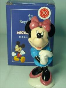 Royal Doulton MINNIE MOUSE Figurine MM2 70th Mickey Mouse Collection Disney +Box