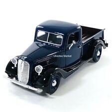 1937 Ford Pickup Truck Dark Blue 1:24 Diecast Vehicle Motormax 73233