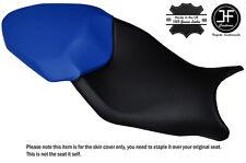 DESIGN 3 BLACK & R BLUE CUSTOM FITS BMW S 1000 XR 15-16 DUAL LEATHER SEAT COVER