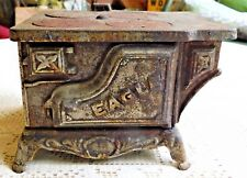 """ANTIQUE EARLY 1900's """"EAGLE"""" CAST IRON SALESMAN SAMPLE SIZED OVEN / STOVE"""