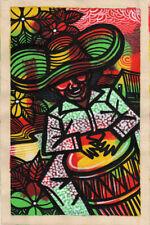 CUBAN LIFE Original Art Painting Acrylic Canvas LEONARDO RUBIO BRIDON  R7
