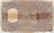 "REPUBLIC INDIA 1000 Rs B RAMARAO INCORRECT HINDI BOMBAY FIRST""A0"" LARGE NOTE"