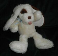 "10"" VINTAGE 1990 COMMONWEALTH WHITE & BROWN PUPPY DOG STUFFED ANIMAL PLUSH TOY"