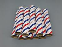 "10 NEW FIREWORKS PYRO Red/White/Blue Cardboard Tubes 3/4"" x 6"" x 3/32"""