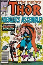 THOR #390 FINE+ Mark Jewelers VARIANT CAPTAIN AMERICA Lifts Thors Hammer ENDGAME