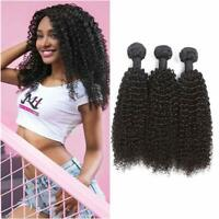 8A Grade Lot de 3 Bresilien Virgin Hair Kinky Curly cheveux vierges de Tissages