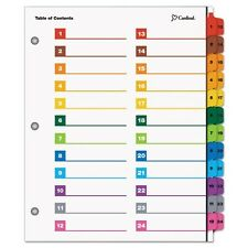 Cardinal OneStep Printable Table of Contents & Dividers - 60960
