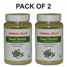 Herbal Hills Natural Neem Leaf (azadirachta indica) Powder 100g - Pack of 2