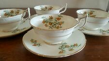 Royal Cauldon 4 Cups With Saucers Barberry Pattern By P. Granet Made In England