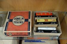 Lionel Jr. 1061 Freight Car Set - EX-LNOB with 1680 Tank, 1679 Baby Ruth & 1682