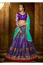 Unstitched Designer Indian Bollywood BANGLORI Silk LEHENGA CHOLI SAREE REDUCED