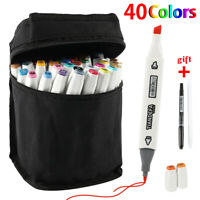 40 Colors Copic Marker Pens Set Touch Twin Tips Sketch Drawing Painting Artist