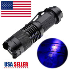 Portable High Power 10W 395nm UV Ultra Lamp Purple Violet Light LED Flashlight P