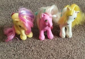 My little pony G1 shire pony x3