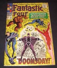 FANTASTIC FOUR #59 Fn 12¢ cover Marvel Comic   INHUMANS BREAK FREE! - DOOMSDAY!